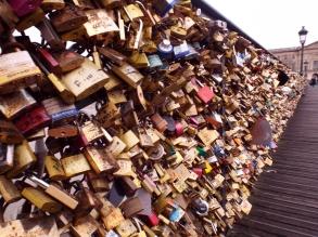 Love locks on the Pont des Arts in Paris - photo by Katie @ Second-Hand Hedgehog travel blog