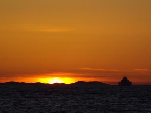 Sunset over the sea, Zadar, Croatia - photo by Katie @ Second-Hand Hedgehog travel blog