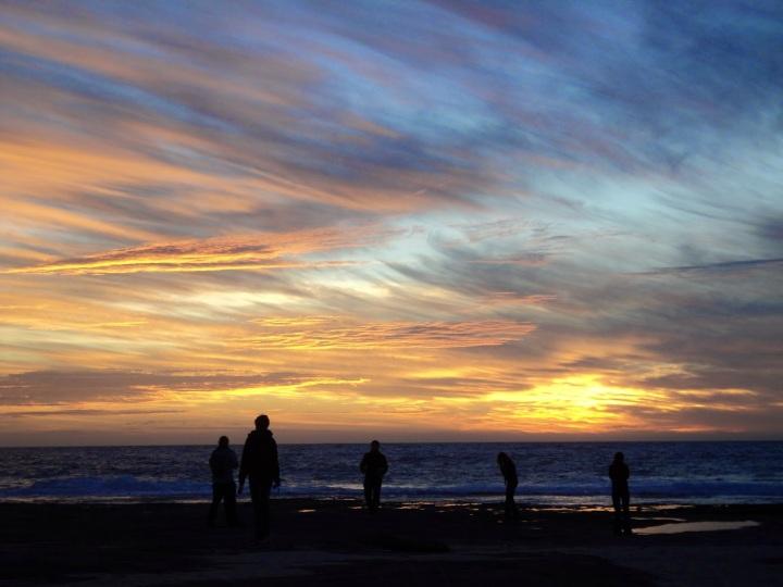 Sunset on the beach: Jake's Point, Western Australia
