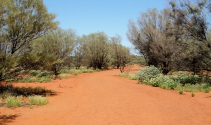 Footpath at Uluru, central Australia - photo by Katie @ Second-Hand Hedgehog travel blog