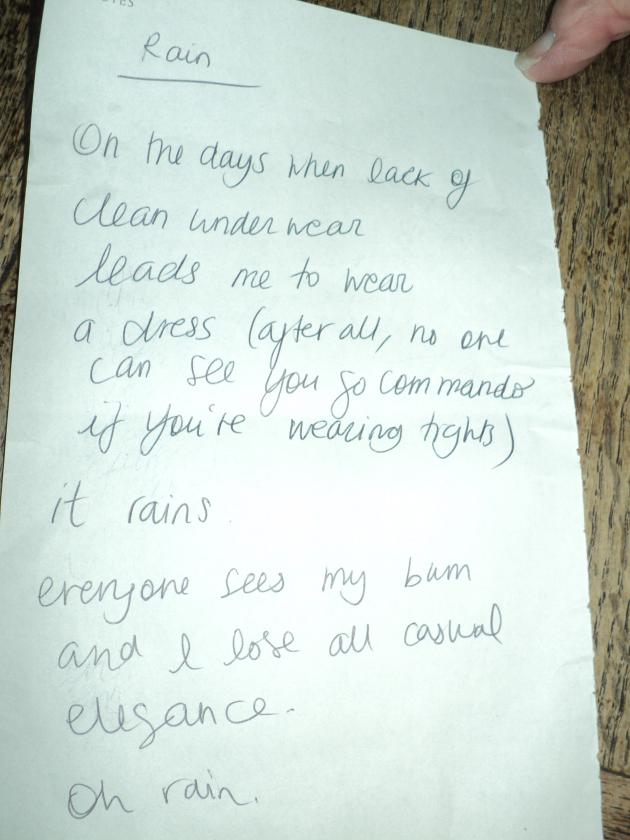 Cafe Poetry - Rain