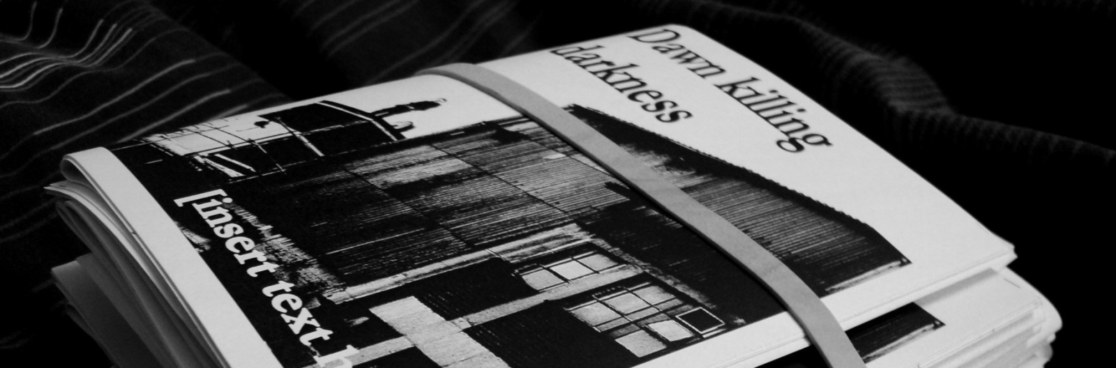 Dawn Killing Darkness contemporary poetry zine, edited by Katie Hale and Dominique Dunne