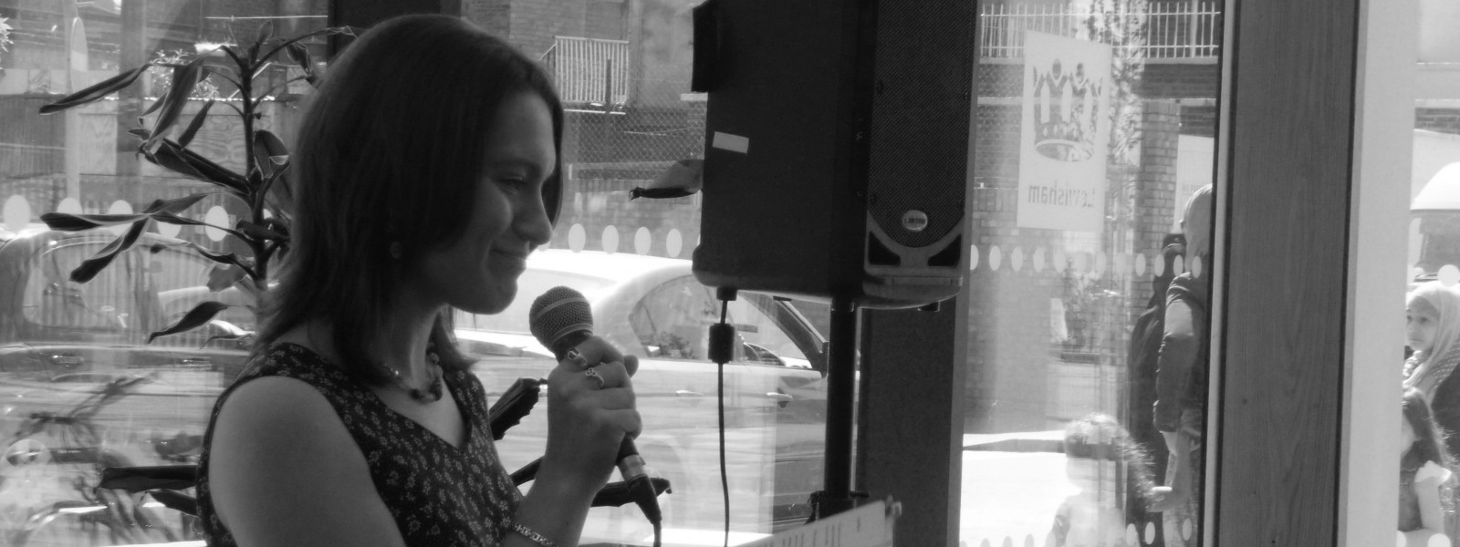 Poetry reading at Deptford Lounge, London