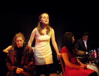 Georgia Figgis as Julia, Jemimah Taylor as Anna, and Joanna Connolly as Sally in 'Yesterday' by Katie Hale and Stephen Hyde at the Burton Taylor Studio, Oxford, June 2015