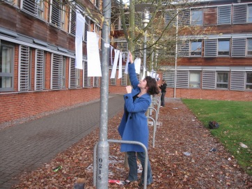 A Line of Poetry: guerrilla poetry created for National Poetry Day 2010