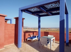 Rooftop terrace at Le Vizir Resort, Marrakesh