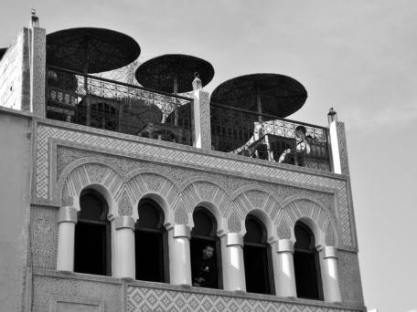 Rooftop terrace, Marrakesh - Katie Hale, Cumbrian poet / writer