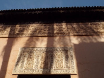 Palm tree shadow, Saadian Tombs, Marrakesh - Katie Hale, Cumbrian poet / writer
