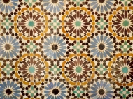 Tiles in the Saadian Tombs, Marrakesh - Katie Hale, Cumbrian poet / writer