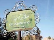 Taxi sign, Marrakesh - Katie Hale, Cumbrian poet / writer
