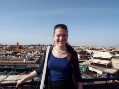 Overlooking the rooftops of Marrakesh