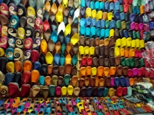 Shoes in the souk, Marrakesh - Katie Hale, Cumbrian poet / writer