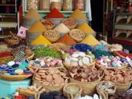 Spices for sale, Marrakesh - Katie Hale, Cumbrian poet / writer