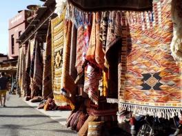 Carpets for sale in Marrakesh - Katie Hale, Cumbrian poet / writer