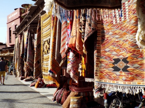 Carpets for sale in Marrakesh - Katie Hale, Cumbrian poet / writer