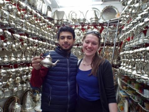 Buying a teapot, Marrakesh