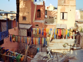Dyers' district, Marrakesh - Katie Hale, Cumbrian poet / writer