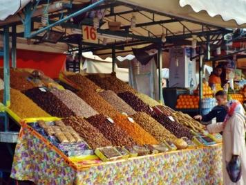 Stall in Jemaa el Fna, Marrakesh - Katie Hale, Cumbrian poet / writer