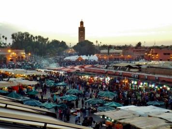 Jemaa el Fna at night, Marrakesh - Katie Hale, Cumbrian poet / writer