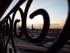 Jemaa el Fna and Koutoubia Mosque at night, Marrakesh - Katie Hale, Cumbrian poet / writer
