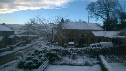 Snow in Cumbria. Katie Hale, Cumbrian poet / writer etc.