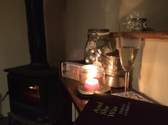 An evening in by the fire, reading Sarah Corbett