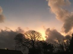 Rainbow sky in Cumbria