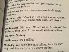 Reading April De Angelis, 'Playhouse Creatures'