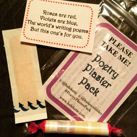 Poetry Plaster Pack - a guerrilla poetry project by Cumbrian writer Katie Hale