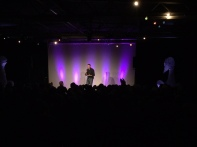 Rory Bremner performing at Penrith Old Fire Station