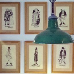 Dickens character sketches at Withnail Books, Penrith