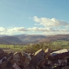 View across the Eden Valley towards the Lake District