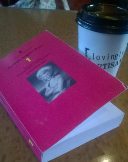 Reading April de Angelis on the train
