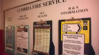 New (old) noticeboard at Penrith Old Fire Station