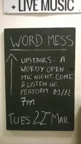Word Mess: an Eden Arts / New Writing Cumbria wordy open mic night in Penrith, for poetry, spoken word, prose, at Penrith Old Fire Station