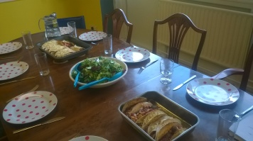 My turn to cook the communal lunch at Eden Arts this week