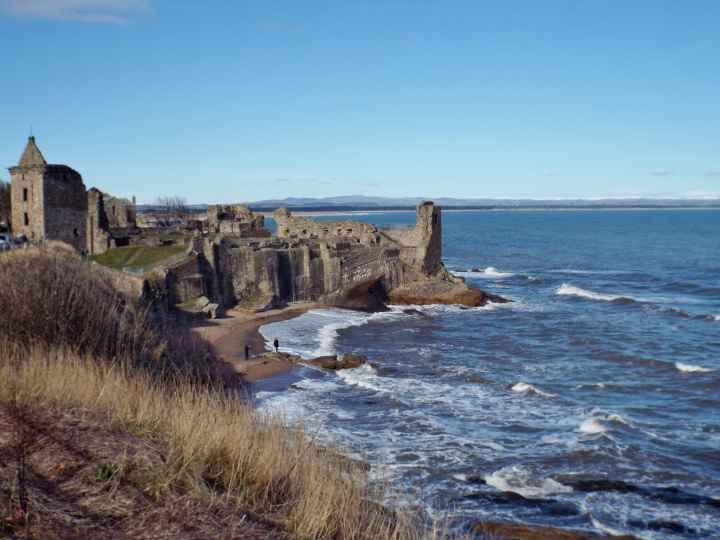 St Andrews castle & Castle Sands beach