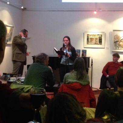 Reading at StAnza 2016 open mic - Katie Hale, Cumbrian poet / writer