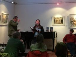 Reading at StAnza 2016 open mic - Katie Hale, Cumbrian poet / writer