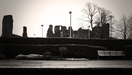 Penrith Castle: view from the station - Cumbria