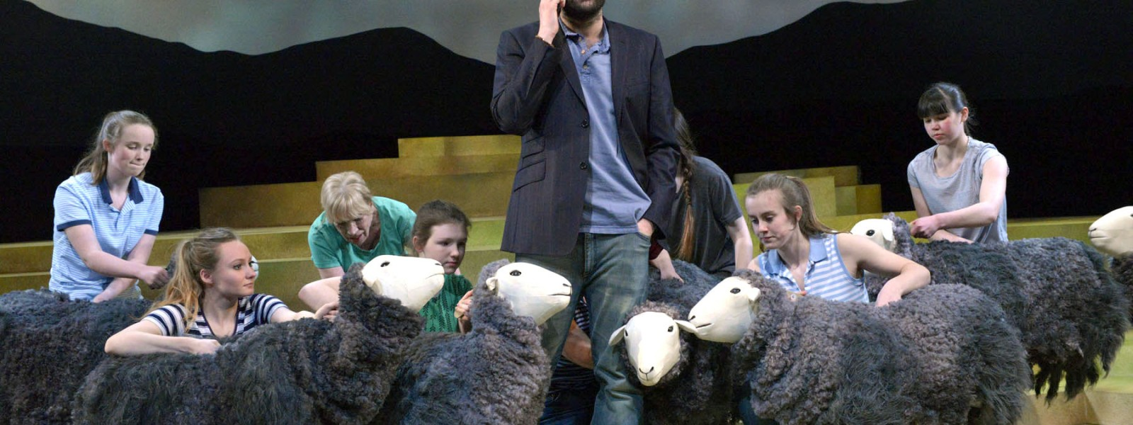 ~ Herdwick Flock operated by community cast, Kieran Hill (James); photo by Keith Pattison ~