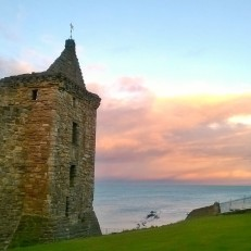 St Andrews castle: sunset