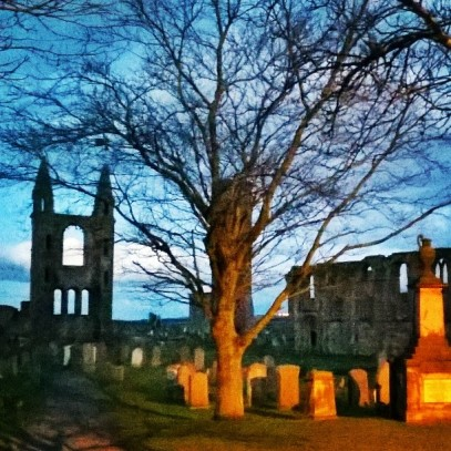St Andrews Cathedral at dusk
