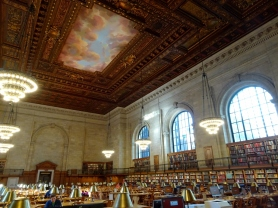 Writing in New York Public Library