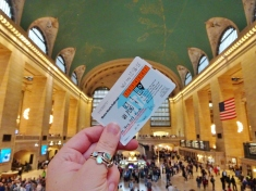 Getting the train from Grand Central Station