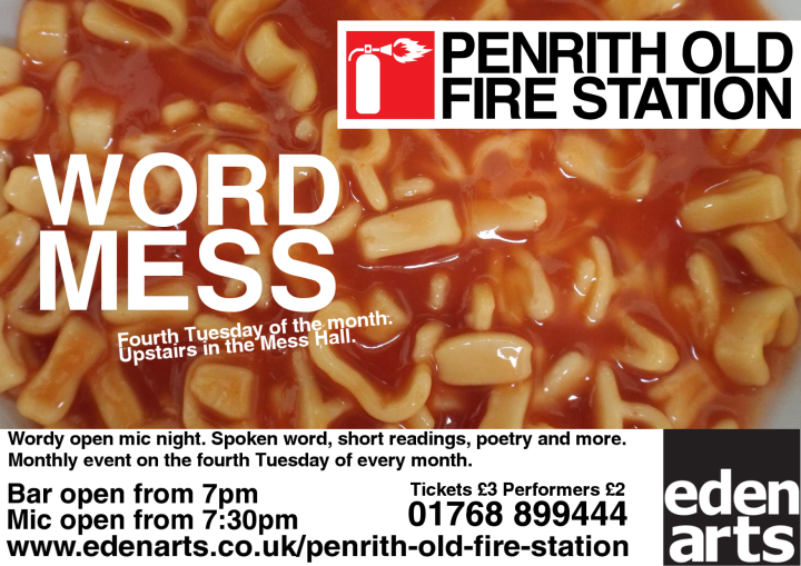 Word Mess open mic night, Penrith, Cumbria