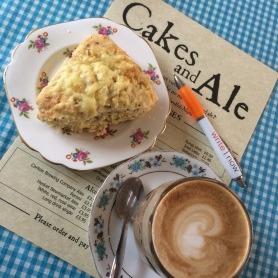 Writing time at Cakes & Ale cafe