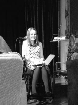 Hannah Hodgson performing at Verbalise, May 2017