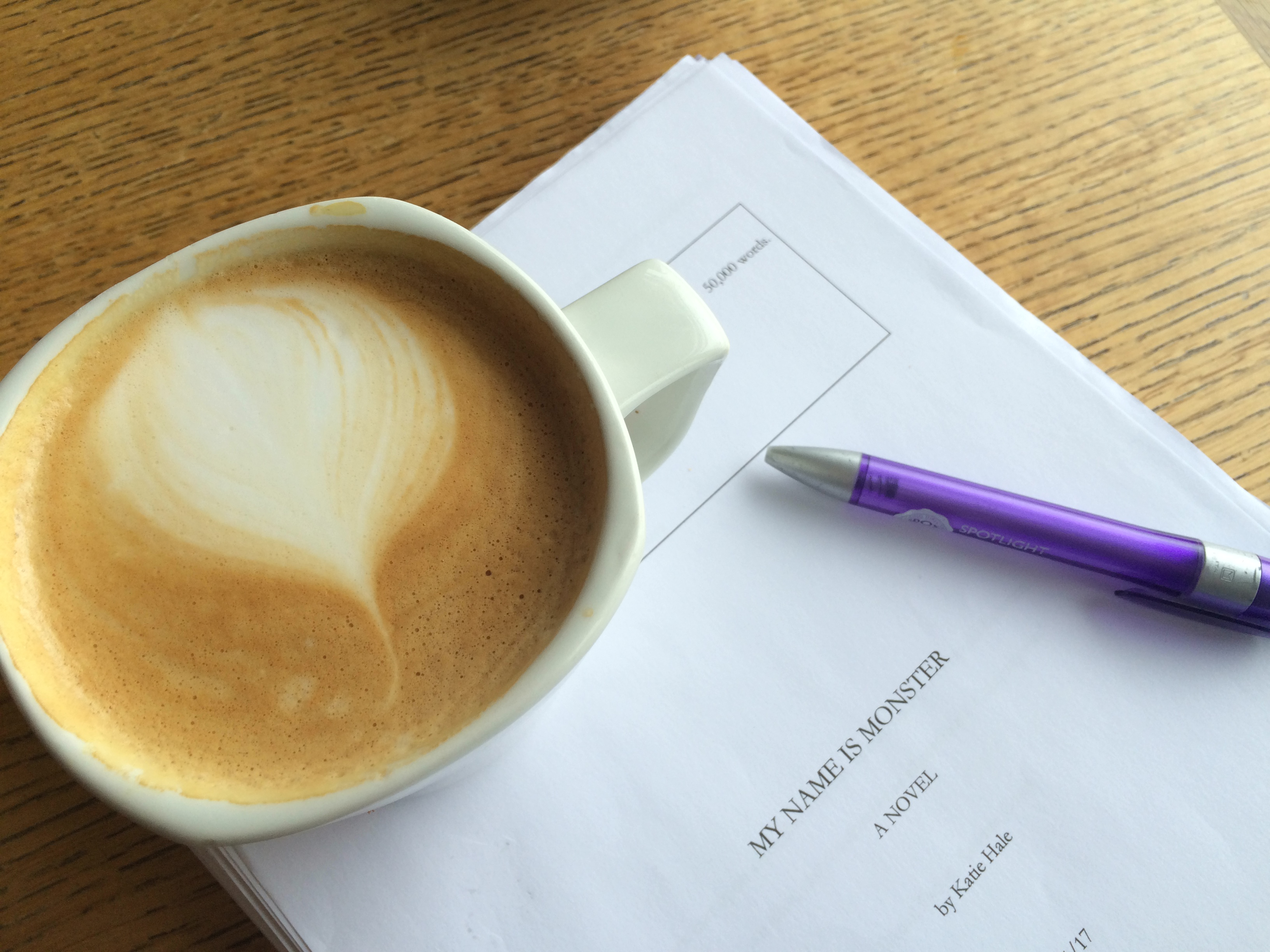 My Name is Monster - editing, by Katie Hale