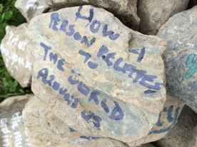 Poetry Cairn, Lakes Alive Festival